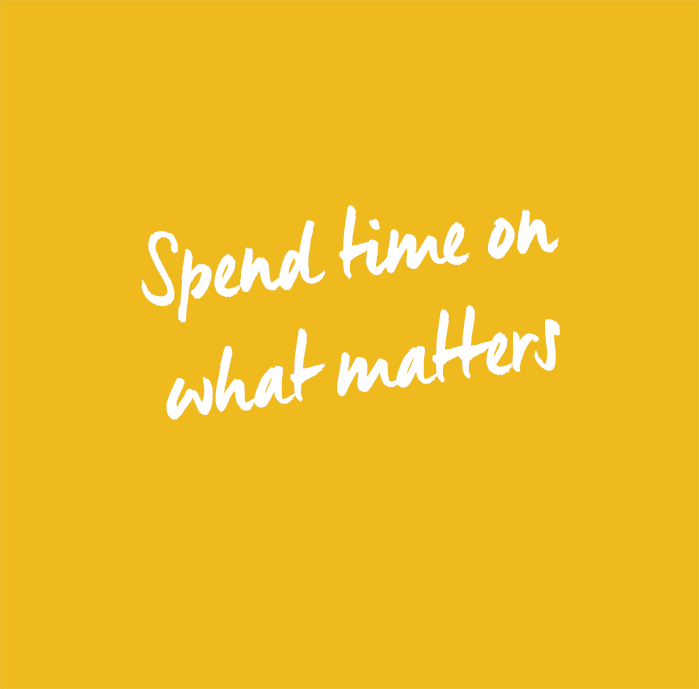 Spend time on what matters copy