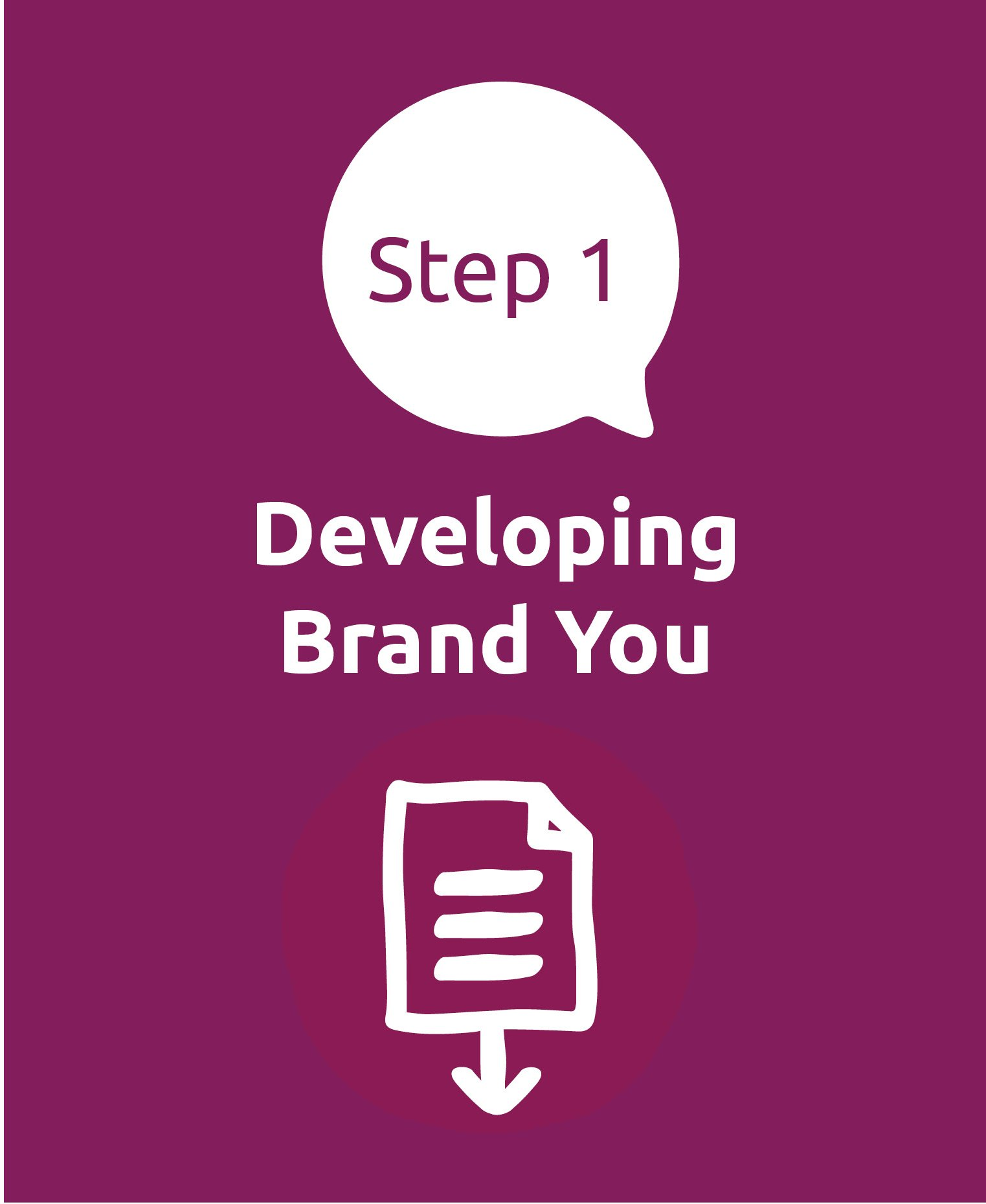 Step 1. Developing Brand You