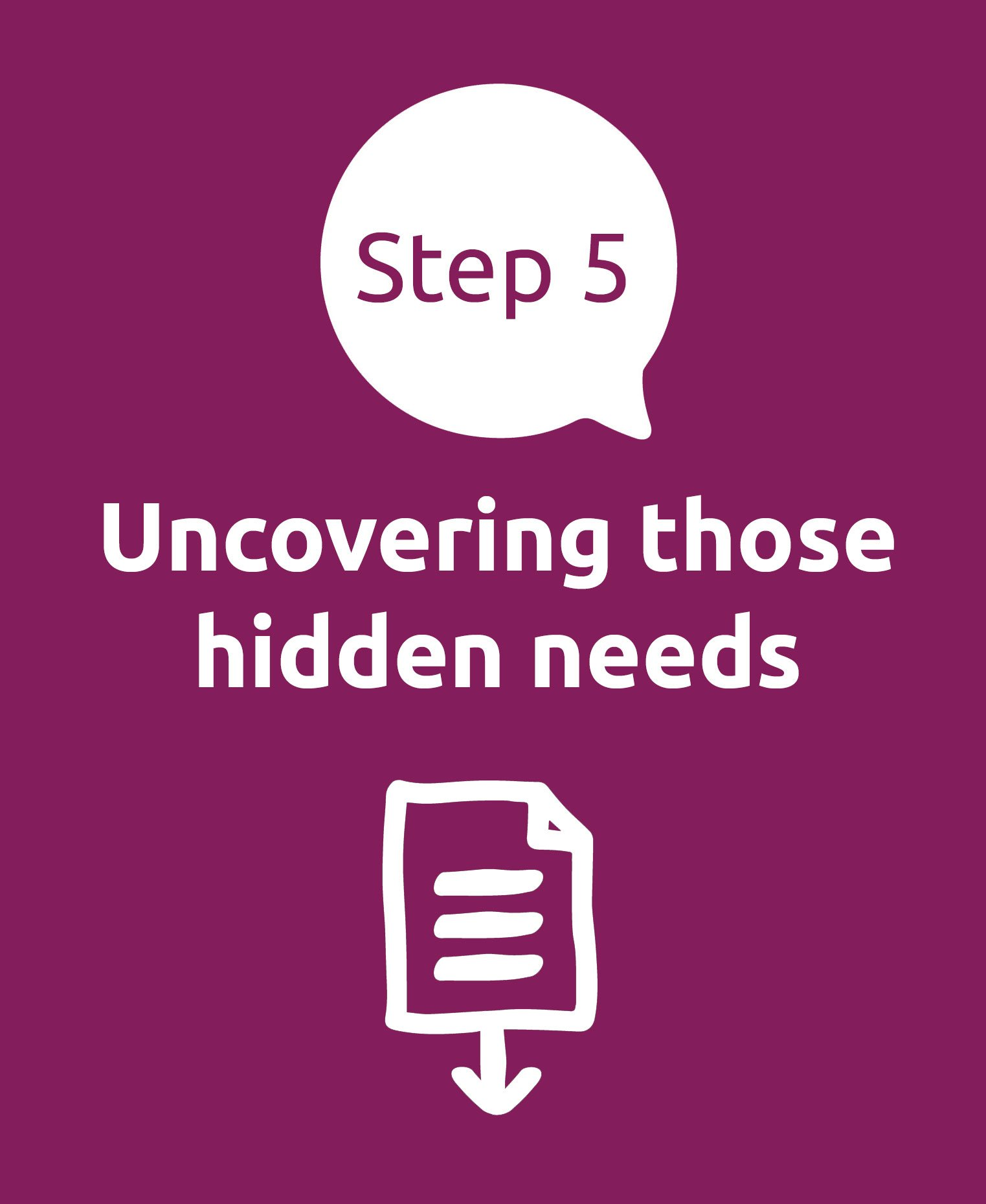 Uncovering those hidden needs
